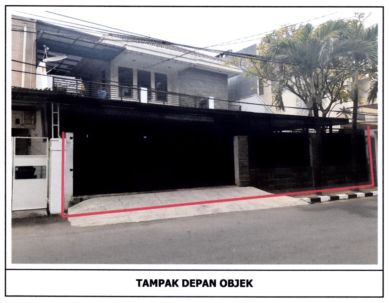 Dilelang Sebidang tanah seluas 341 m2 berikut bangunan (Rumah Tinggal) di Kebon Jeruk