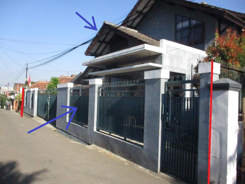Sebidang tanah seluas 316 m2 berikut bangunan (Rumah Tinggal)  di Bandung